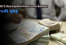 55.000 TL Borç Kapatma Kredisi Veren Bankalar